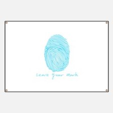 Leave your Mark - Blue Banner