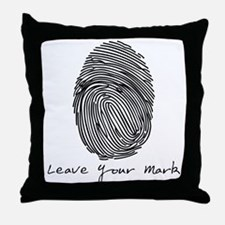 Leave your Mark - Black Throw Pillow