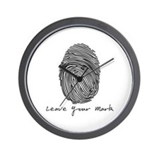 Leave your Mark - Black Wall Clock