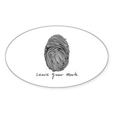 Leave your Mark - Black Oval Decal
