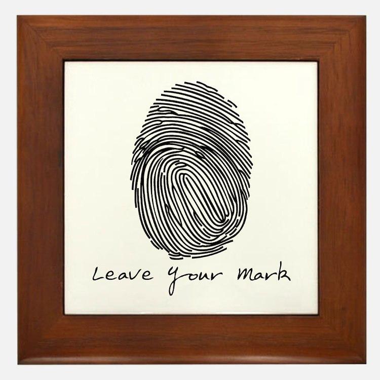 Leave your Mark - Black Framed Tile