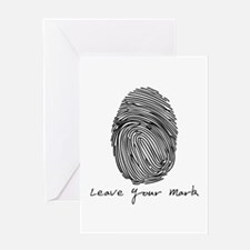 Leave your Mark - Black Greeting Card