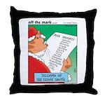 Feline Santa Throw Pillow