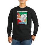 Feline Santa Long Sleeve Dark T-Shirt