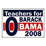 Teachers for Barack Obama Banner