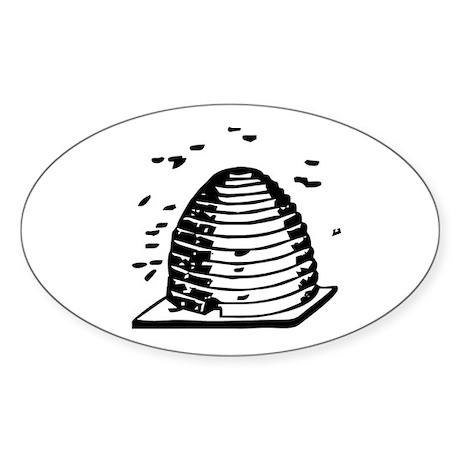 Master Mason Beehive Oval Sticker