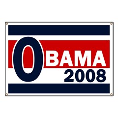 Red, White and Blue Obama Banner