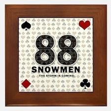 88 SNOWMEN Framed Tile