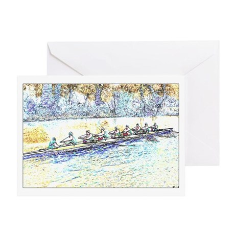CREW LINES Greeting Card