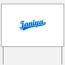 Retro Janiya (Blue) Yard Sign