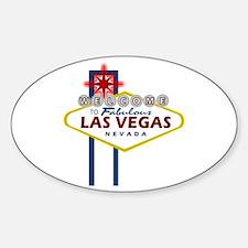 Las Vegas Sign Oval Decal