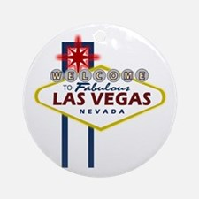 Las Vegas Sign Ornament (Round)