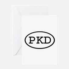 PKD Oval Greeting Card
