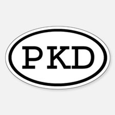 PKD Oval Oval Decal