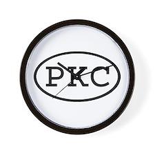 PKC Oval Wall Clock