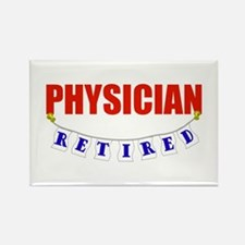 Retired Physician Rectangle Magnet