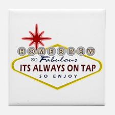 Vegas Homebrew Tile Coaster