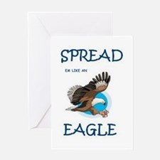 Cute Mens eagle Greeting Card