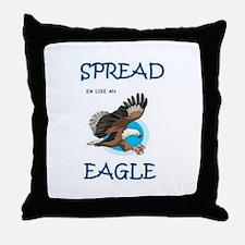 Cute Mens eagle Throw Pillow