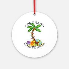 Summer coronado- california Round Ornament