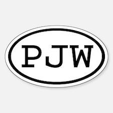 PJW Oval Oval Decal