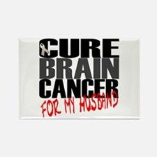 Cure Brain Cancer -- For my Husband Rectangle Magn