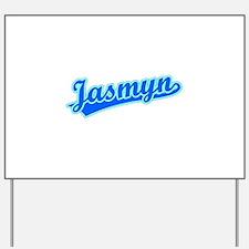 Retro Jasmyn (Blue) Yard Sign