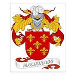 Maldonado Family Crest Small Poster