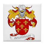 Maldonado Family Crest Tile Coaster