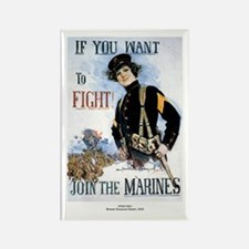 If You Want To Fight Rectangle Magnet (10 pack)