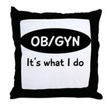OB/GYN Throw Pillow