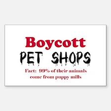 Boycott Pet Shops Rectangle Decal