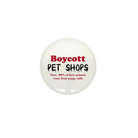 Boycott Pet Shops Mini Button