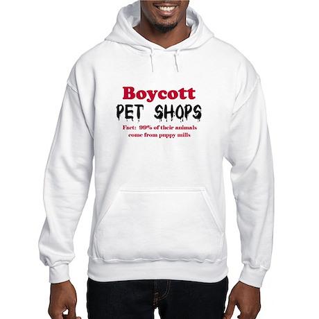 Boycott Pet Shops Hooded Sweatshirt