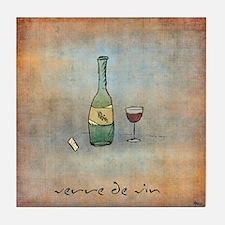 Glass of Wine Tile Coaster