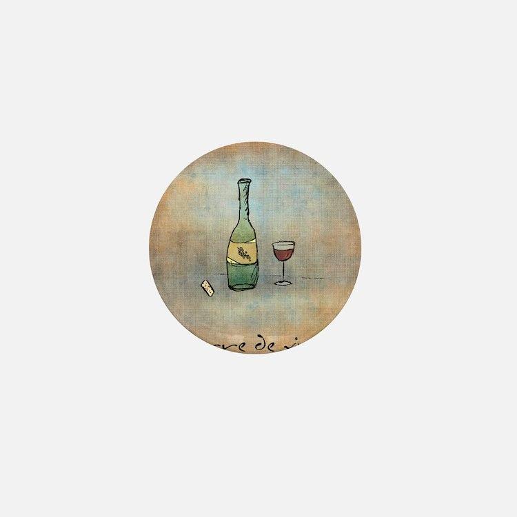 Glass of Wine Mini Button
