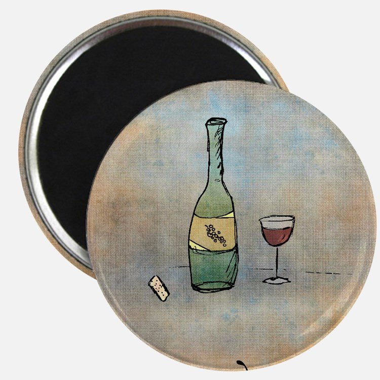 Glass of Wine Magnet
