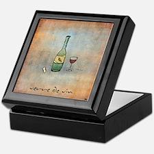 Glass of Wine Keepsake Box