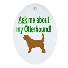 OH Ask Me Oval Ornament