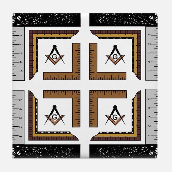 Square Design No. 3 Tile Coaster