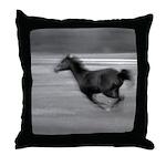 Running Horse Throw Pillow