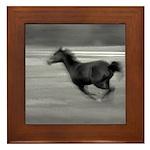 Running Horse Framed Tile