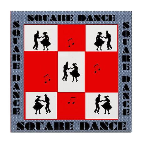 square dancing square Tile Coaster