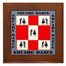 square dancing square Framed Tile