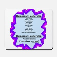 """Democrat Leaders?"" Mousepad"