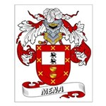 Mena Family Crest Small Poster