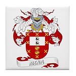 Mena Family Crest Tile Coaster