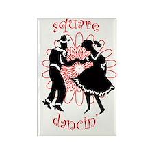 square dancers Rectangle Magnet