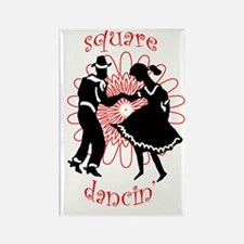 square dancers Rectangle Magnet