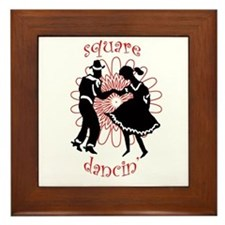 square dancers Framed Tile